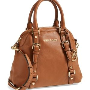 Michael Kors Bedford bowling satchel in Luggage